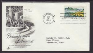 US Beautification 1969 Artcraft Ayerst Typed FDC BIN