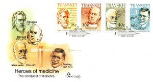 Transkei, Worldwide First Day Cover, Medical