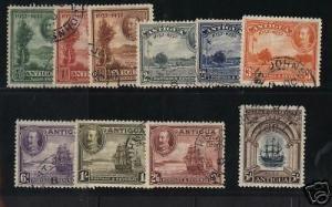 Antigua #67 - #76 VF Used Set