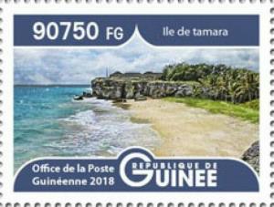 Guinea - 2019 Landscapes Tamara Island - Stamp - GU1801local01a