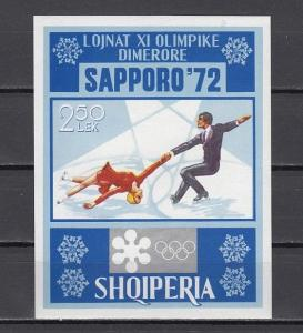 Albania, Scott cat. 1410. Sapporo Winter Olympics s/sheet.