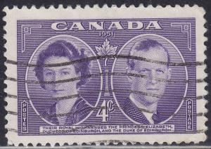 Canada 315 USED 1951 Royal Visit To Canada 4¢