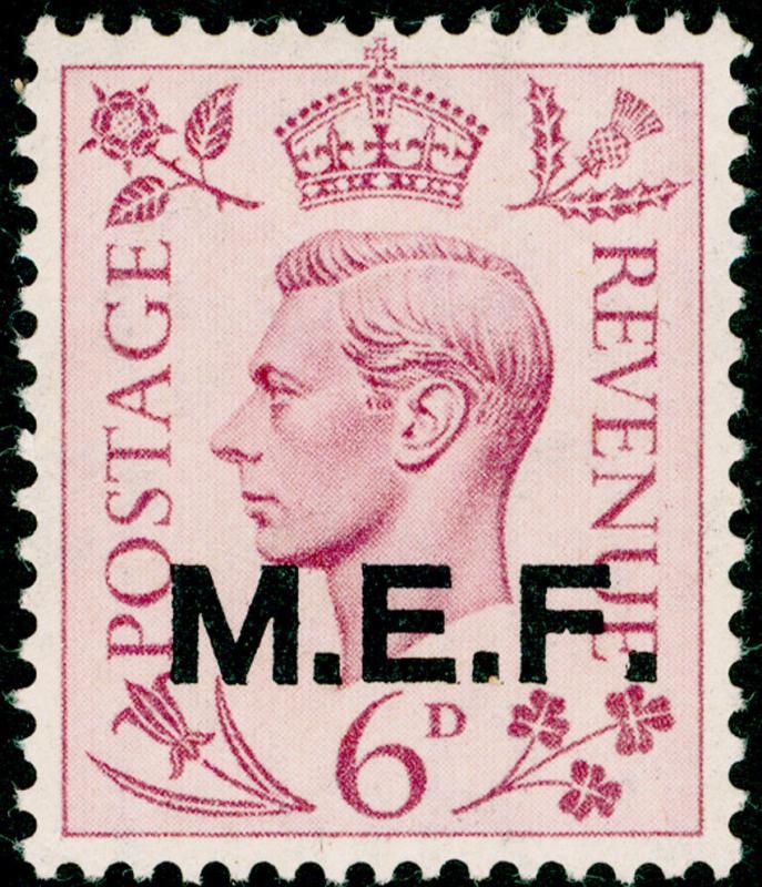 BRITISH OC OF ITALIAN COLONIES SGM16, 6d purple, NH MINT.