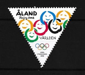 [75395] Aland 2008 Olympic Games Beijing Triangle  MNH