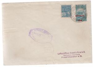 1931 Brazil Graf Zeppelin cover to Luftschiffbau Factory in Germany LZ 127