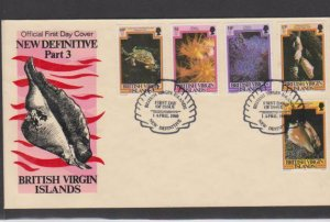 BRITISH VIRGIN ISLANDS FDC STAMPS , LOT#175