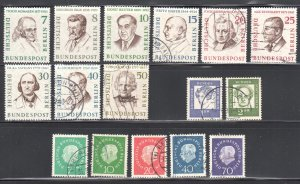 Germany Berlin #9N148 to 156, 165 to 169, 189-190 All USED  Only 7--8-10 and 30
