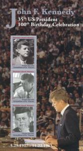 Union Island Gren St Vincent 2017 MNH JFK John F Kennedy 100th 3v M/S I Stamps