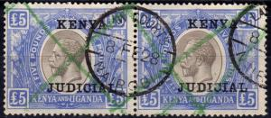 KUT 1922 5 Black & Blue SG99 Fine Used Pair Fiscal Cancel