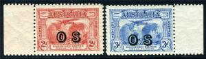 AUSTRALIA SC# O1-2 SG# O123-124 MINT HINGED AS SHOWN