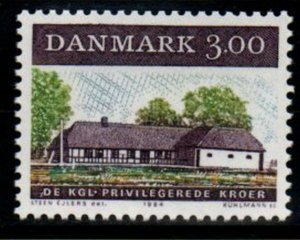 Denmark  Scott  759 1984 17th Century Inn stamp mint NH