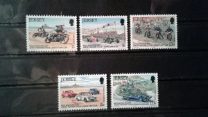 Jersey MNH 231-5 60th Anniversary Jersey Motorcycle & Light Car Club 1980