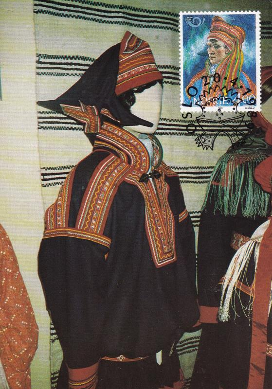 Norway 1989 Nordic Cooperation on Colorful Maximum Cards (2) Folk Costumes