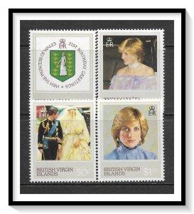 British Virgin Islands #430-433 Princess Diana Issue Set MNH