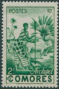 Comoro Islands 1950 SG4 2f Native Woman MNH