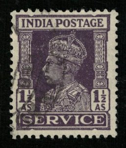 1939-1942, King George, India postage SERVICE, 11/2As (RT-868)