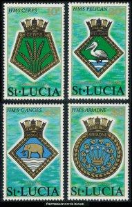 Saint Lucia Scott 405-408 Mint never hinged.