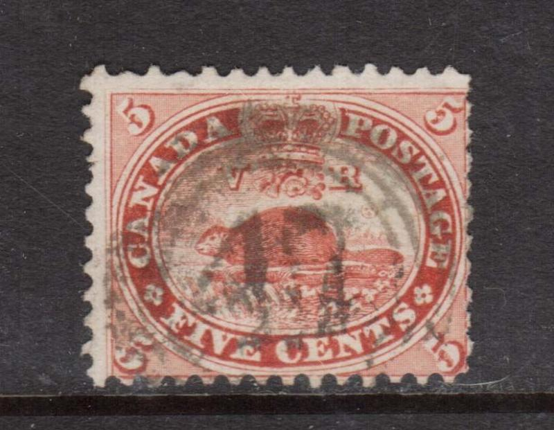 Canada #15 Used With 4 Ring 47 Three Rivers Cancel