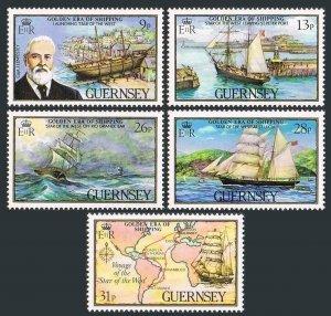 Guernsey 269-273,MNH.Michel 274-278. Star of the West merchant ship.Lenfestey.