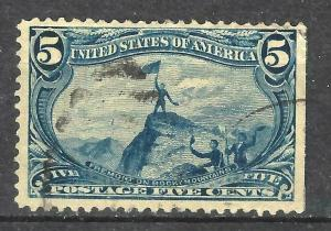 #288 US 5 CENT BLUE TRANS.MISS-USED-N/G-FINE-VF