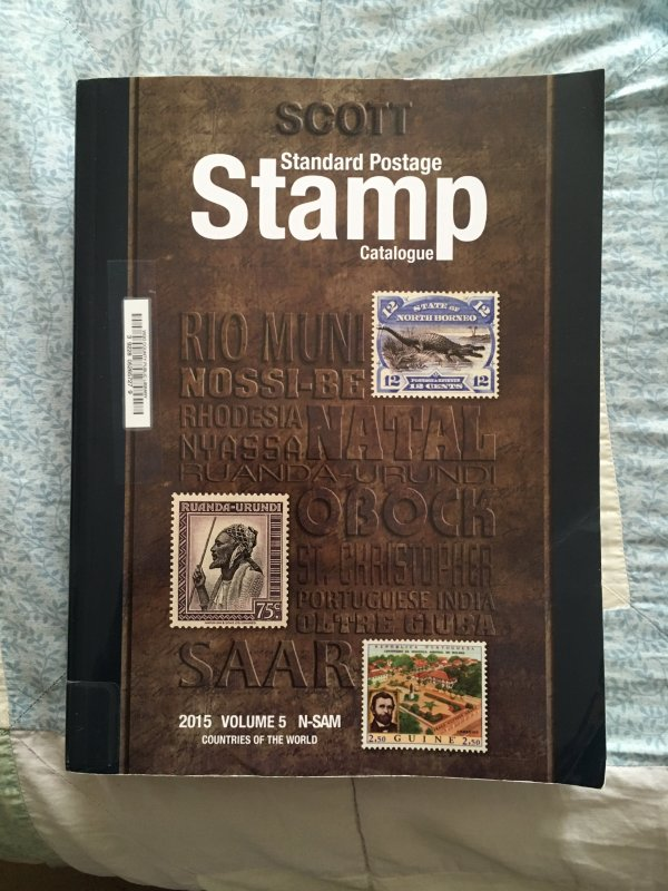 Scott 2015 Standard Postage Stamp Catalogue Vol 5: N - Sam Countries ExLibrary