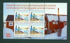 Greenland.  Souvenir Sheet 1996 Mnh. Greenland Handicap Association. Semi-Postal