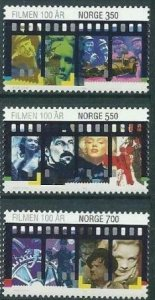 Norway 1996 #1134-6 MNH. Cinema