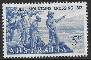 AUSTRALIA SG352 1963 ANNIV. ANNIV OF FIRST CROSSING OF BLUE MOUNTAINS MNH