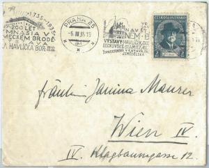 69905 - CZECHOSLOVAKIA - POSTAL HISTORY -  COVER to AUSTRIA  1935