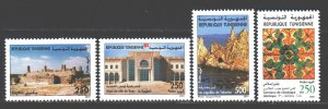 Tunisia. 2001. 1484-87. Tourism, hotels, excavations, ceramics. MNH.