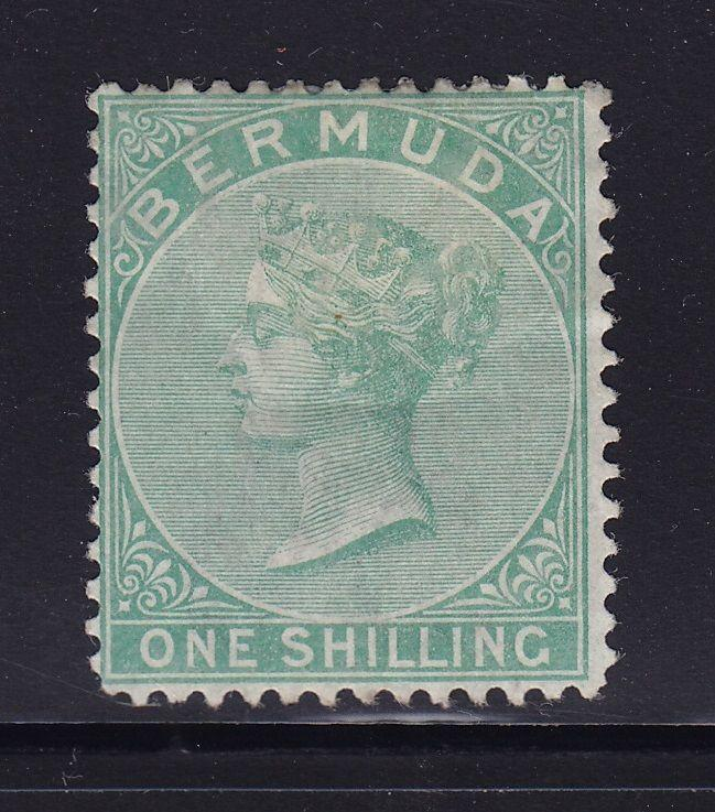 Bermuda Scott # 6 F-VF OG mint previously hinged scv $ 450 ! see pic !