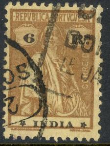 PORTUGUESE INDIA 1913-21 6r Lilac Brown CERES Issue Scott No. 364 VFU