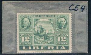 Liberia C54 Unused Stamps on stamps 1947 (L0595)