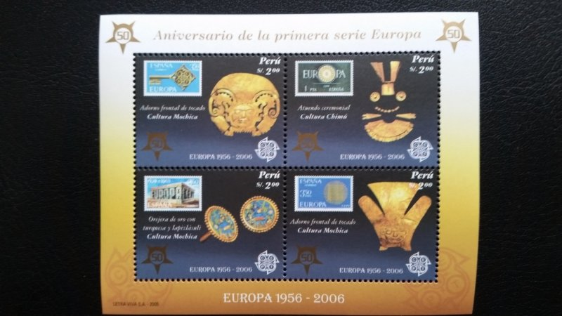 50th anniversary of EUROPA stamps - Peru 1x Bl perf ** MNH