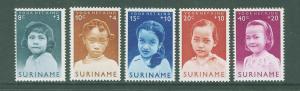 SURINAM/SURINAME 1963 MNH SC.B94/98 Child Walfare