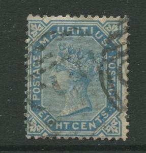 STAMP STATION PERTH: Mauritius #61 FU 1880  Single 8c Stamp