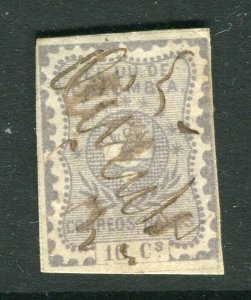 COLOMBIA; 1860s early classic Imperf fine used 10c. value