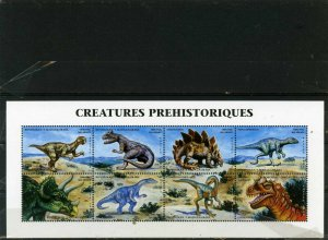 MADAGASCAR 1999 PREHISTORIC ANIMALS/DINOSAURS SHEET OF 8 STAMPS MNH