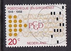 Netherlands   #451  used  1968  postal checking service