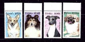 Zambia 804-07 MNH 1999 Dogs   #2