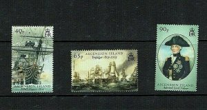 Ascension Island: 2005, Bicentenary of Battle of Trafalgar (2nd series), MNH set