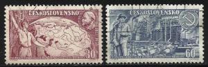 Czechoslovakia 1957 Scott# 827-828 Used