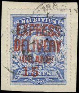 Mauritius Scott E3Fj Gibbons E4d Used Stamp