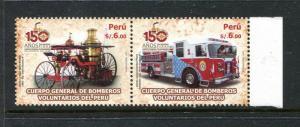Peru 1742, MNH, Fire Brigade, Retro Fire Track 2010. x29642
