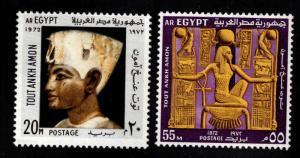 EGYPT Scott 915-916 MH* Tutankhamun stamps