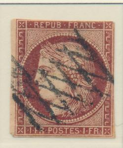 France Stamp Scott #9, Used - Free U.S. Shipping, Free Worldwide Shipping Ove...