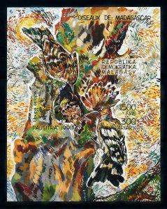 [102158] Madagascar 1991 Birds vögel oiseaux Imperf. Sheet MNH