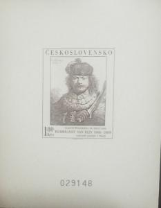 O) 1973 CZECHOSLOVAKIA, PROOF, PAINTER AND PRINTMAKER REMBRANDT - 1606 TO 1669 -