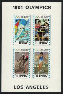 Philippines Sailing Cycling Boxing Running Olympic Games Los Angeles MS IMPERF
