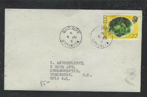 DOMINICA COVER (P1902B) 1976 QEII 20C FRUIT GOOD HOPE TO ENGLAND